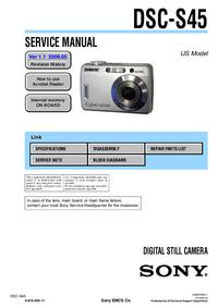Manuale di servizio Sony DSC-S45