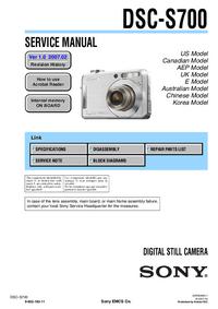 Service Manual Sony DSC-S700