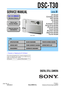 Servicehandboek Sony DSC-T30