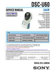 Manual de serviço Sony DSC-U60