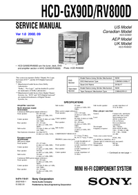 Service Manual Sony HCD-RV800D