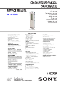 sony icd sx68 rh opweb de Sony Digital Voice Recorder Dragon IC Sony Recorder ICD -B500 Manual