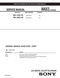 Service Manual Sony KDL-40SL130