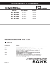Service Manual Sony KDL-40XBR5