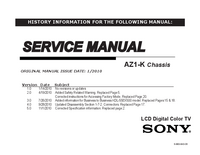 Manual de servicio Sony KDL-60EX500