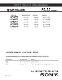 Manuale di servizio Sony KP-53N77