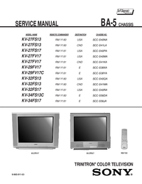 Service Manual Sony KV-34FS17
