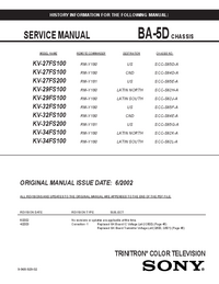 Service and User Manual Sony KV-32FS200