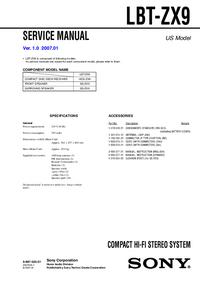 Serviceanleitung Sony LBT-ZX9