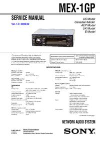 Service Manual Sony MEX-1GP