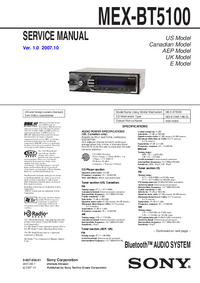 Manual de servicio Sony MEX-BT5100