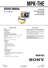 Service Manual Sony MPK-THE
