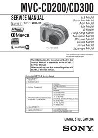 manuel de réparation Sony MVC-CD200