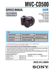 Service Manual Sony MVC-CD500