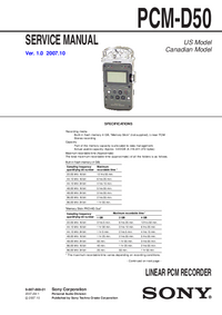 Service Manual Sony PCM-D50