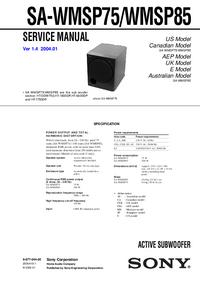 Service Manual Sony SA-WMSP85