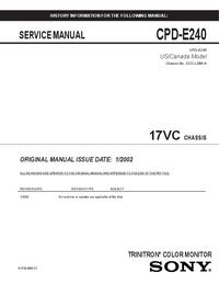 manuel de réparation Sony 17VC