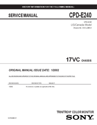 Serviceanleitung Sony 17VC