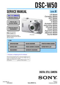 Manual de servicio Sony DSC-W50