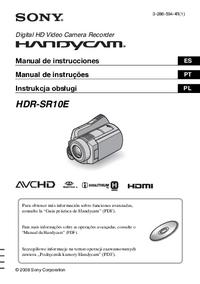 manuel de réparation Sony HDR-SR10E