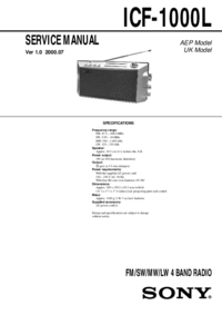 Service Manual Sony ICF-1000L