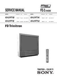 Service Manual Sony KV-21FT1K