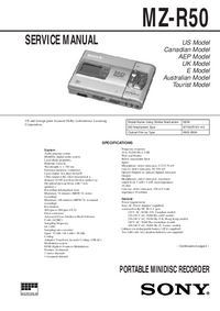 Service Manual Sony MZ-R50