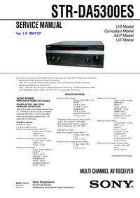 Serviceanleitung Sony STR-DA5300ES