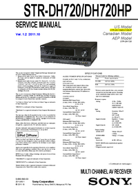 Service Manual Sony STR-DH720