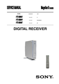 manuel de réparation Sony VTX-D800U