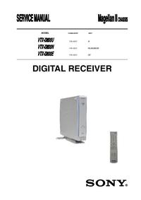 Service Manual Sony VTX-D800E