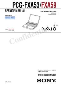 Instrukcja serwisowa Sony PCG-FXA53