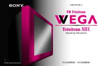Manual de serviço Sony KV-32XBR250