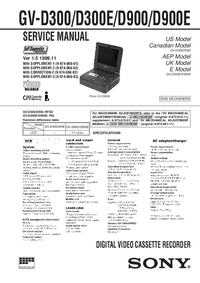 Manual de servicio Sony GV-D300E