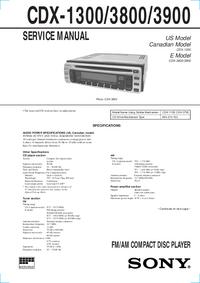 Руководство по техническому обслуживанию Sony CDX-1300
