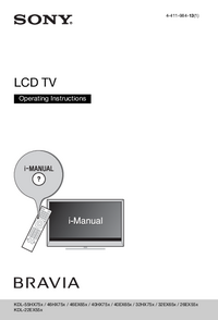 User Manual Sony KDL-40EX65x