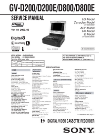 Manual de servicio Sony GV-D200E