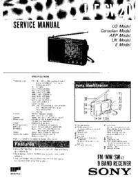 Servicehandboek Sony ICF-SW20