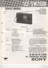 Instrukcja serwisowa Sony ICF-SW7600