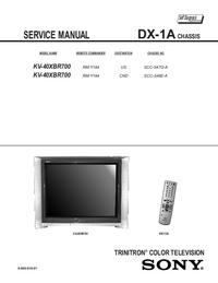 Руководство по техническому обслуживанию Sony KV-40XBR700