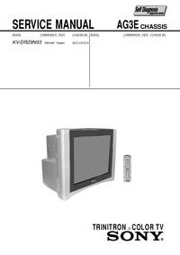 Manuale di servizio Sony KV-DR29N93