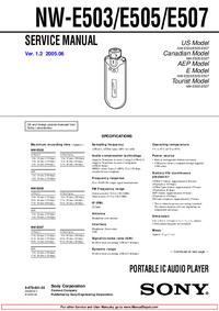 Service Manual Sony NW-E505