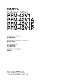 Service Manual Sony PFM-42V1A