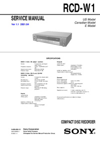 Manual de servicio Sony RCD-W1