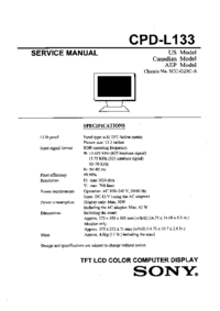 Service Manual, cirquit diagram only Sony CPD-L133