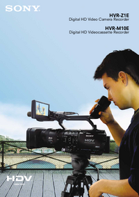 folha de dados Sony HVR-Z1E