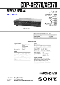 Manual de servicio Sony CDP-XE270