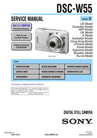 Service Manual Sony DSC-W55