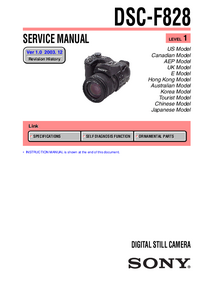 Service and User Manual Sony DSC-F828