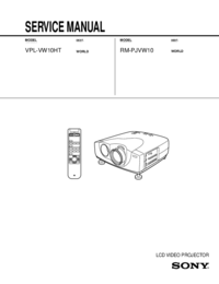 Serviceanleitung Sony VPL-VW10HT